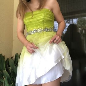 lime green ombre dress